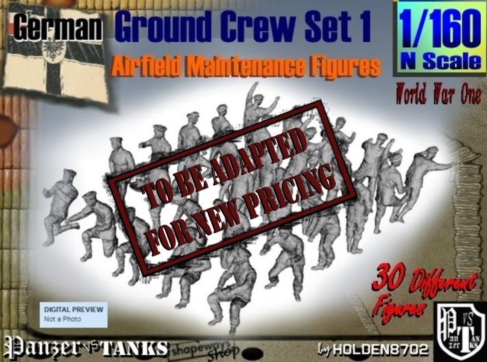 1-160 German Ground Crew SET 1 3d printed