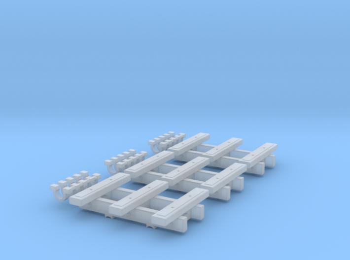 3 Bar Narrow Gauge Slab Wagon (x3) 3d printed