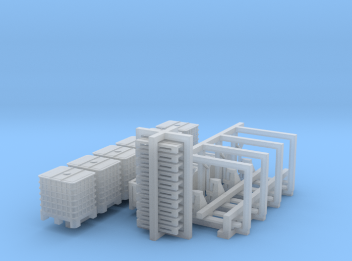 N Scale Logistics Set 3d printed