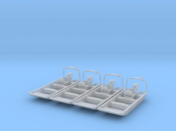 Flat Bottom Boat 01. 1:148 Scale 3d printed