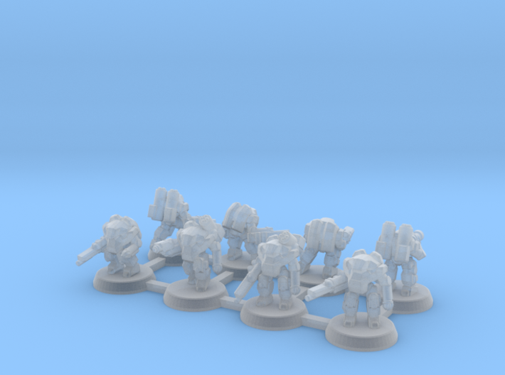 Terran Power Armor Squad 3d printed
