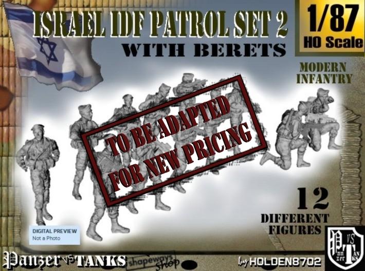 1-87 IDF BERET PATROL SET 2 3d printed