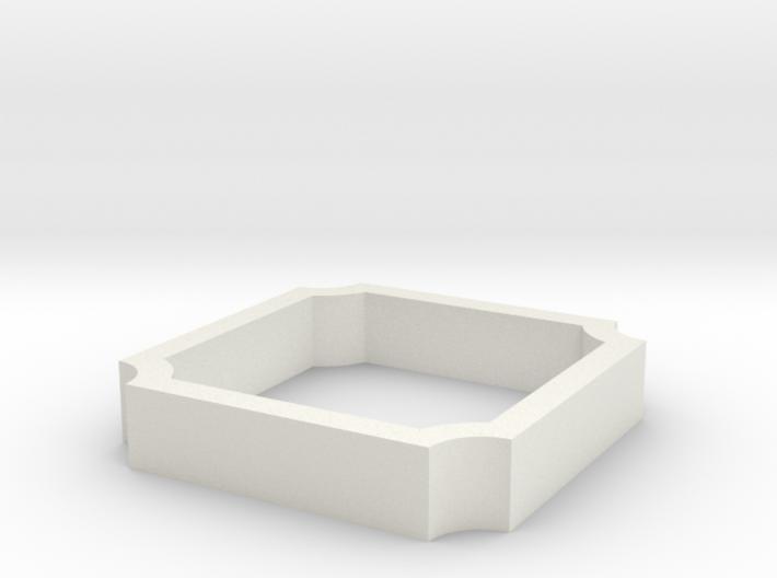 Parkhecke quadratisch Ecken eingerückt (Buchsbaum) 3d printed