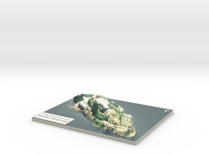 "Alcatraz Island Map: 8""x10"" 3d printed"
