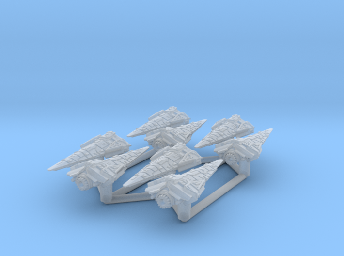 8x Raider Corvette (1/7000) 3d printed