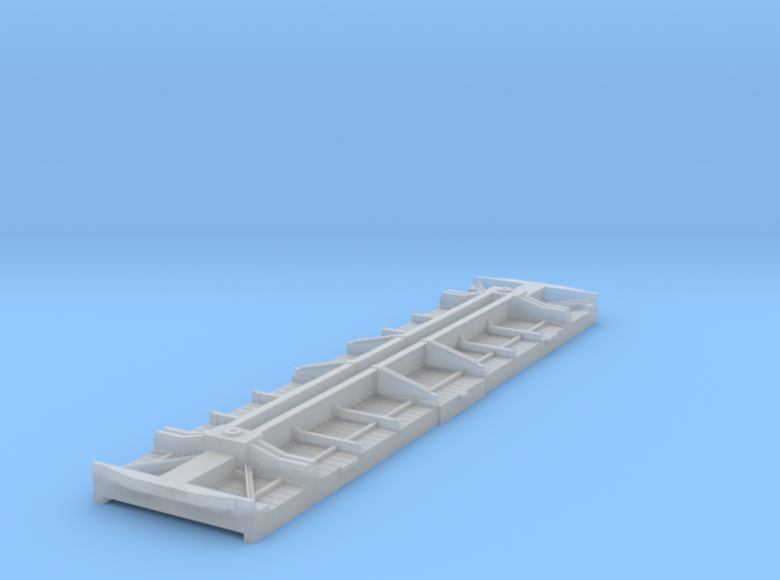 Fowler boxcar underframe and floor 3d printed