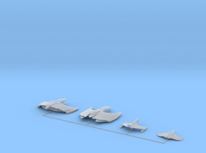 Romulan Fleet 1 3d printed
