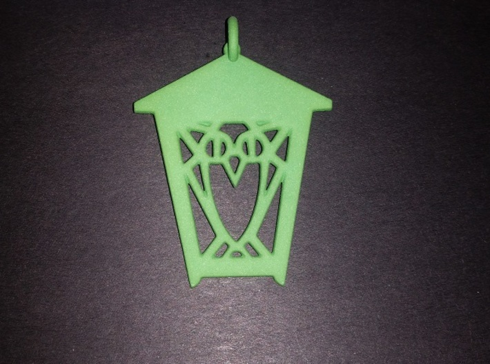 Owl Lantern Ornament 3d printed Actual ornament - green for my class year!