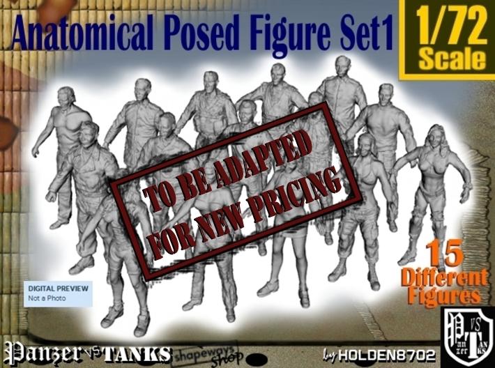 1-72 Anatomical Pose Figure Set1 3d printed