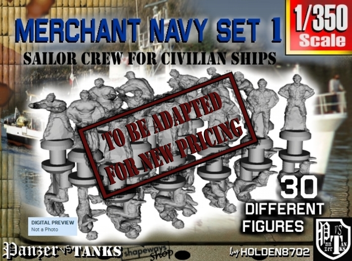1-350 Merchant Navy Crew Set 1 3d printed