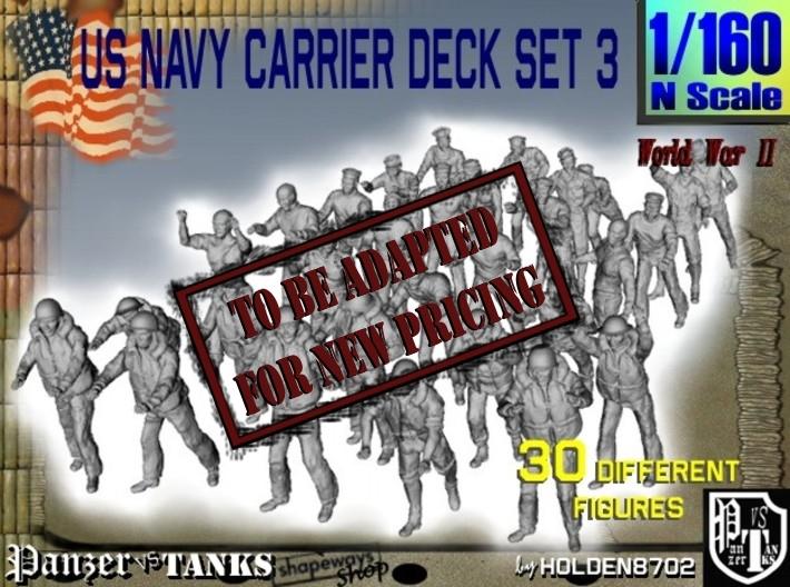 1/160 US Navy Carrier Deck Set 3 3d printed