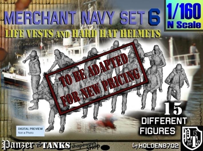 1-160 Merchant Navy Set 6 3d printed