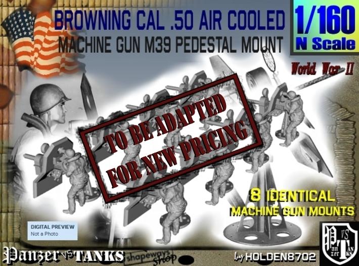 1-160 M2 Air Cooled M2 MG Mount Set2 3d printed