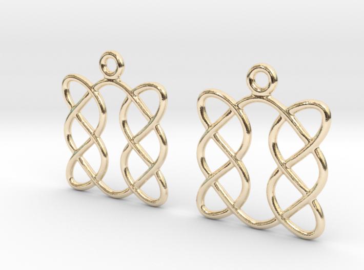 Celtic Weave Earrings - WE005 3d printed