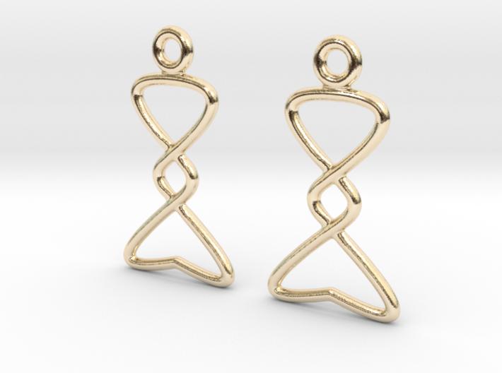 Celtic Weave Earrings - WE007 3d printed
