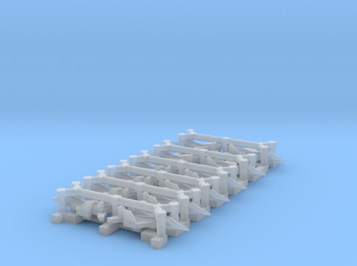 Mig 29K Set, 12 pc, 1/1800 3d printed