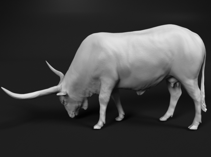 Ankole-Watusi 1:45 Grazing Female 3d printed
