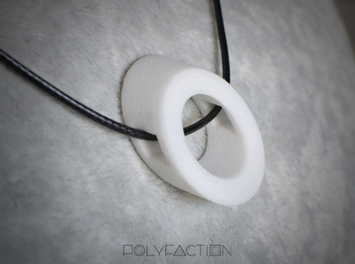 40 Degree ::: Circle Pendant ::: v.01 3d printed