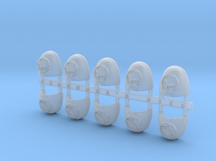 Raven Command 2 V.6 Shoulder Pads x10 3d printed