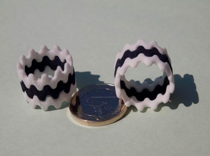 Artistic Wave Ring 3d printed Artistic Wave Ring in Strong and Flexible 02