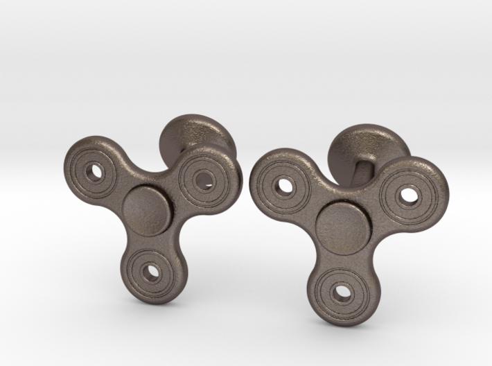 Fidget Spinner Cufflinks - LARGE 3d printed