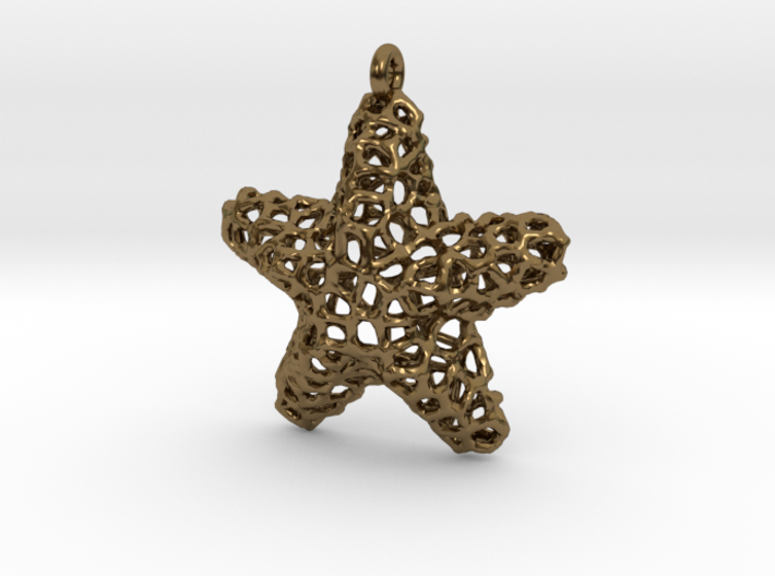Starfish Pendant (Earrings) 3d printed