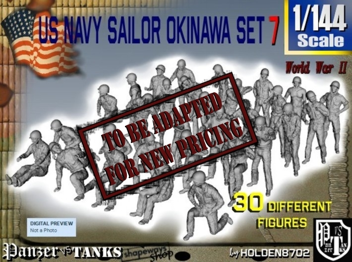 1/144 US Navy Okinawa Set 7 3d printed