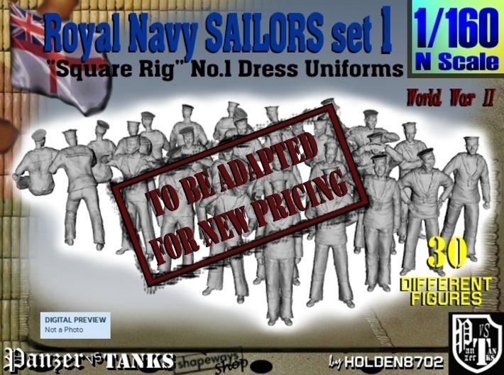 1-160 Royal Navy Sailors Set1 3d printed