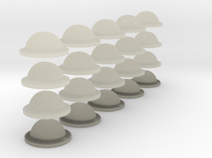 1-48 Brodie Helmet Set1 3d printed