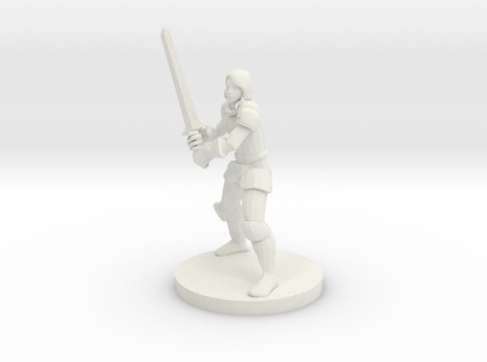 Lady Fighter 3d printed