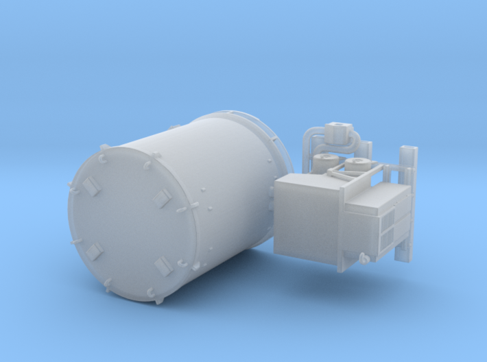 N scale 1/160 Titan Rocket container & A/C unit 3d printed