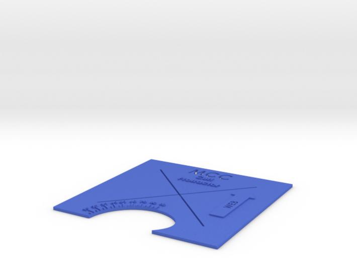 "MCC Curl Protractor Full ""X"" 3d printed"