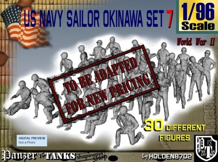 1/96 US Navy Okinawa Set 7 3d printed