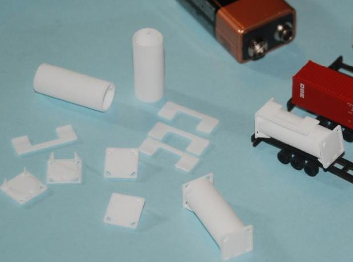 TankTainer2 - Set of 4 - Zscale 3d printed Printed in WSF