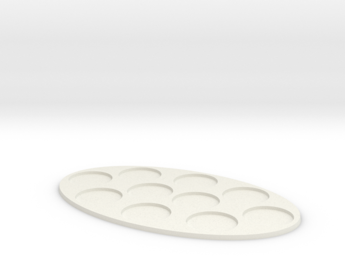 Oval Diorama Movement Tray - 32mm Round Slots 3d printed