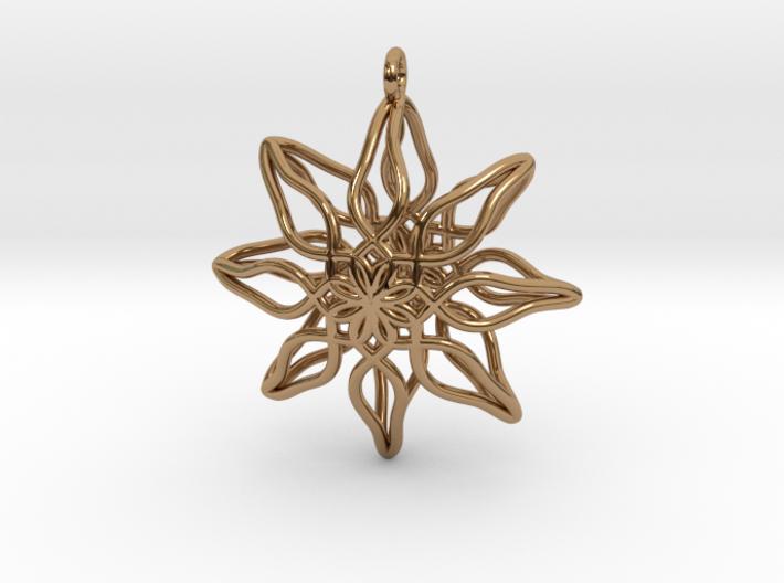 Change Flower Pendant 3d printed
