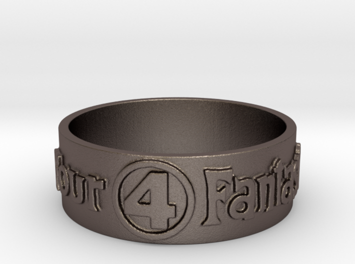 Fantastic Four Title Embossed Ring Size 12.25 3d printed
