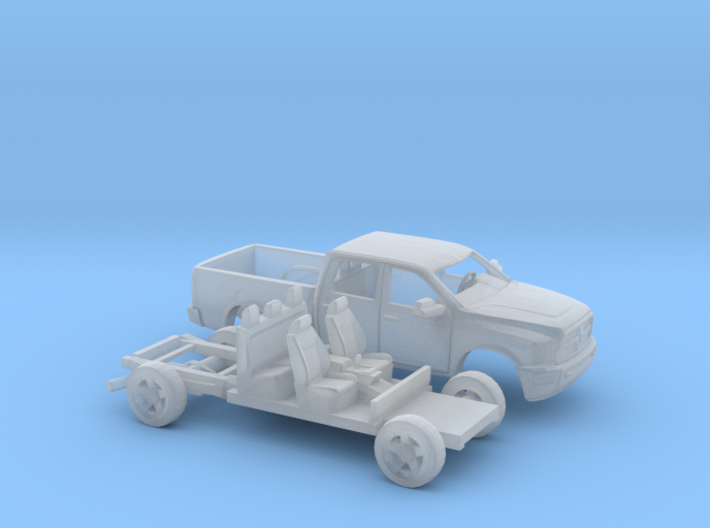 1/87 2009-Present Dodge Ram Crew Cab Kit 3d printed