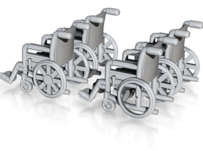 Wheelchair 01. N Scale (1:160) 3d printed