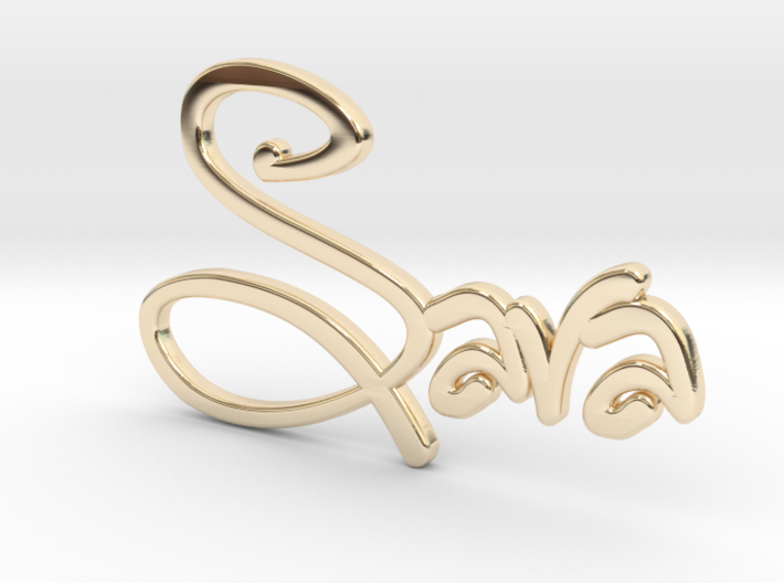 Names: Sara (customizable) 3d printed