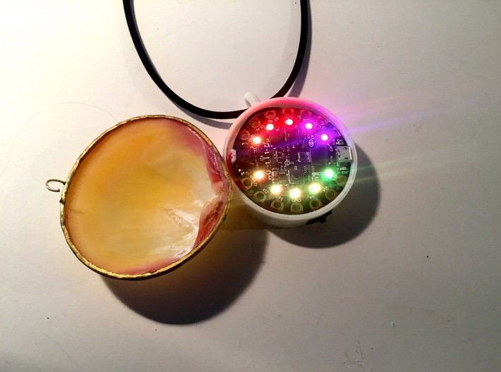 Circuit Playground Seashell Necklace Enclosure 3d printed