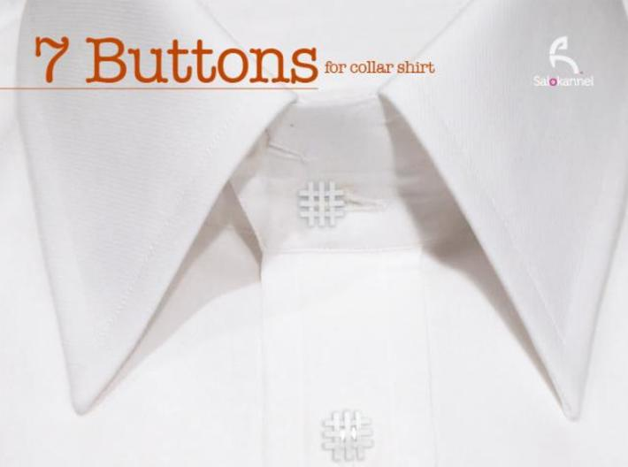 #-buttons for collar shirt - 7pcs. 3d printed Make your shirt alive...