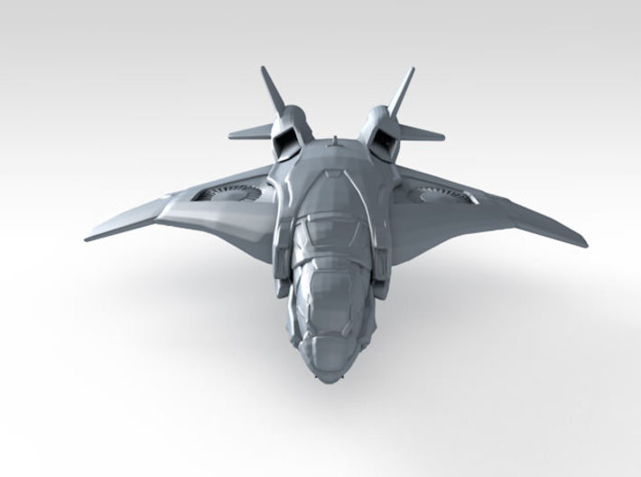 1/700 Scale S.H.I.E.L.D. Quinjet (In-Flight) x6 3d printed 3d render showing product detail
