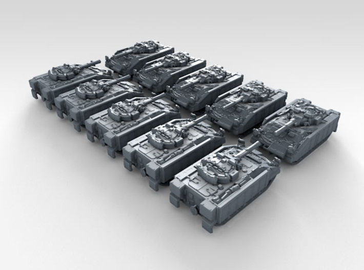 1/600 British Army Warrior Milan IFV x10 3d printed 3d render showing product detail