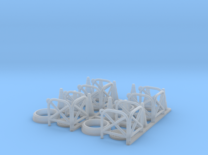 Manhole with fence 01. HO scale (1:87) 3d printed