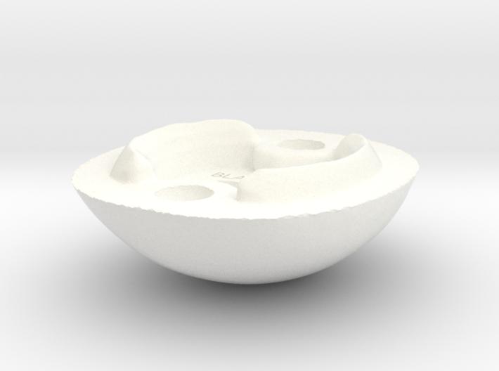 """Blank Face"" BJD head sculpting aid MSD size BACK 3d printed"