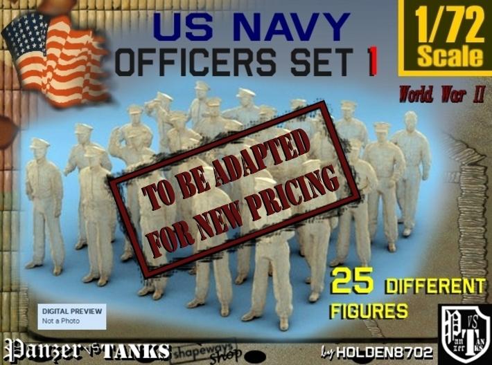 1-72 USN Officers Set1 3d printed