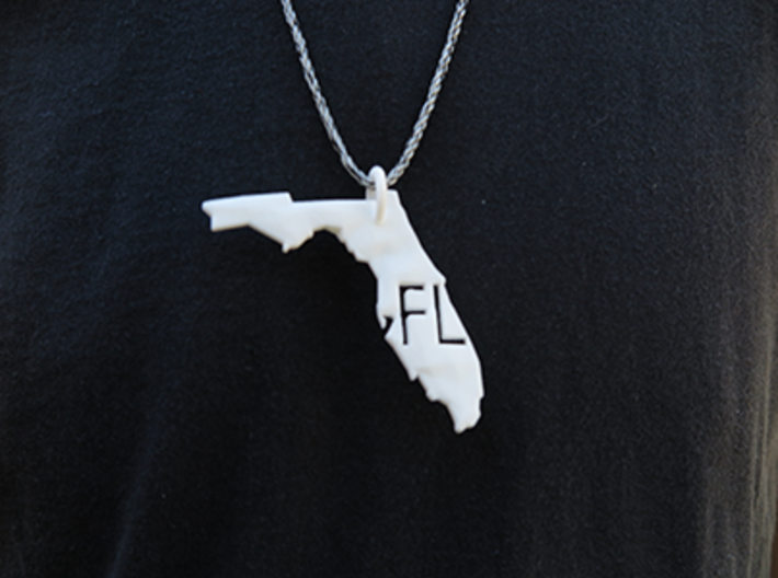 Florida State Pendant 3d printed *twine not included