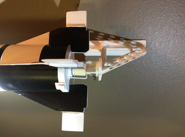 C Size Model Rocket Wall Stand 3d printed