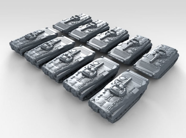 1/600 Russian BMP-1 Armoured Fighting Vehicle x10 3d printed 3d render showing product detail